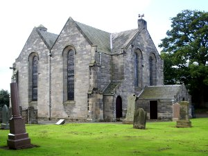 back of Gladsmuir church
