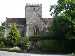 front of Poynings church