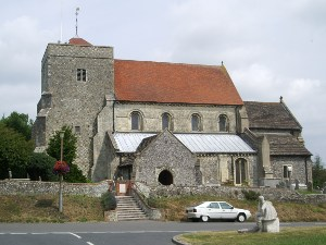 front of Steyning church