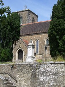 front of Storrington church