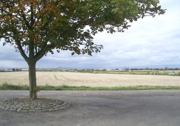 view from Gladsmuir churchyard