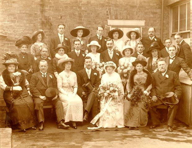 wedding of Charles Thomson to Gertrude Lelliott